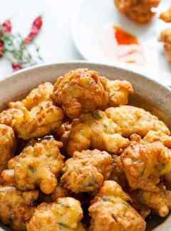 Caribbean salt cod fritters. Tasty appetizer everyone will love. | joeshealthymeals.com