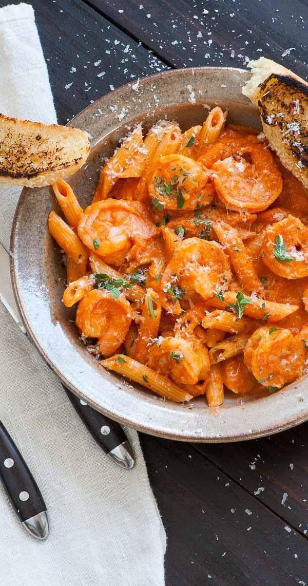 Shrimp Penne with Vodka Sauce | Joe's Healthy Meals
