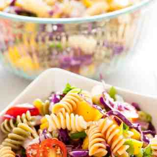 Cold Mango Pasta Salad