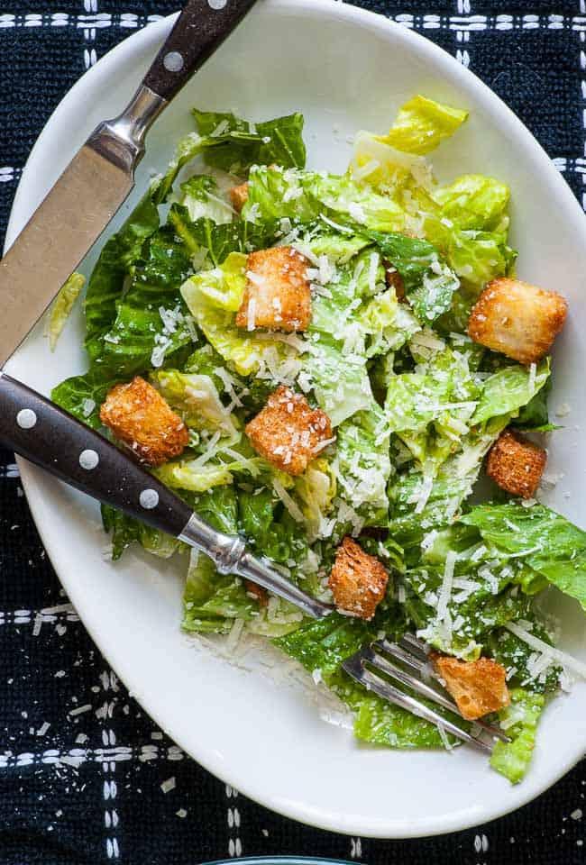Traditional Caesar Salad Dressing. Sensational recipe for tasty traditional Caesar dressing. | joeshealthymeals.com