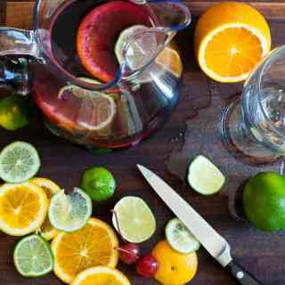 Simple Summer Sangria Spritzer