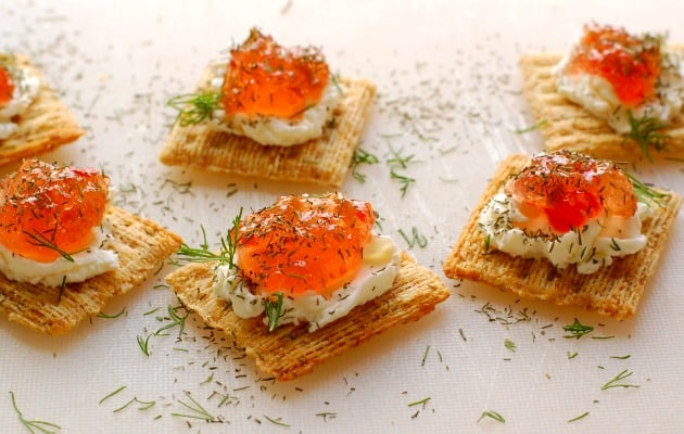 Pepper jelly cream cheese appetizer. Top 8 most popular appetizers. | joeshealthymeals.com