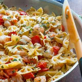 Pasta with Roma Tomatoes and Shrimp Sauce