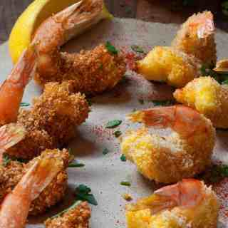 Oven Baked Breaded Butterfly Shrimp