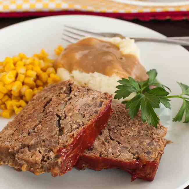 My favorite meatloaf recipe is something I thought up years ago and it has been the way I make meatloaf ever since.