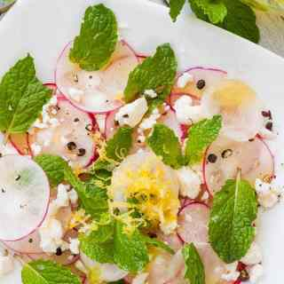 Shaved Radish Salad with Feta and Mint