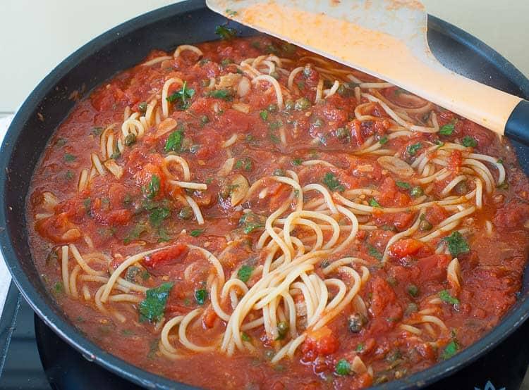 Midnight spaghetti sauce.