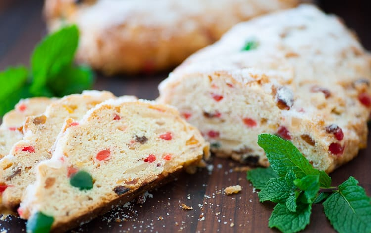 German Christmas stollen. Enjoy with a fresh cup of coffee.   joeshealthymeals.com