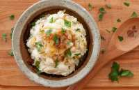 Caramelized onion mashed potatoes.