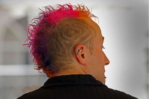 man with dyed hair