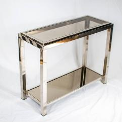 Vogue Chrome Sofa Table Household Product To Clean Leather Console Joevin Ortjens Galerie