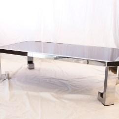Vogue Chrome Sofa Table Corner Sofas John Lewis Greek Coffee With Black Glass Joevin