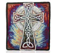 Raku Wall Art  Celtic Cross