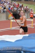 Kiowa County's Katelynn Gamble starts her attempt at the Class 2A Girls Pole Vault during the 2012 KSHSAA State Track and Field Championship at Cessna Stadium on the campus of Wichita State University in Wichita, Kansas on May 26, 2012. (Photo: Joey Bahr, www.joeybahr.com)