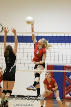 Ellinwood Lady Eagle Sophie Hayes (#3) goes for a kill during the Central Plains Lady Oilers at Ellinwood Lady Eagles volleyball match at Ellinwood High School in Ellinwood, Kansas on October 11, 2012. (Photo: Joey Bahr, www.joeybahr.com)