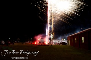 Fireworks light up the sky during the Olmitz City Fireworks Celebration at the Knights of Columbus Council #2100 Hall in Olmitz, Kansas on July 6, 2013. (Photo: Joey Bahr, www.joeybahr.com)