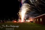 Fireworks illuminate the Olmitz sky during the Olmitz City Fireworks Celebration at the Knights of Columbus Council #2100 Hall in Olmitz, Kansas on July 6, 2013. (Photo: Joey Bahr, www.joeybahr.com)