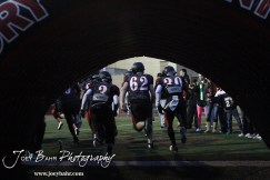 The Great Bend Panthers run out onto the field before the Salina Central versus Great Bend High School Football game with Salina Central winning 41 to 14 at Memorial Field in Great Bend, Kansas on October 25, 2013. (Photo: Joey Bahr, www.joeybahr.com)
