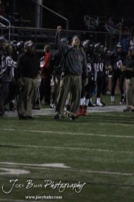 The Great Bend Panther Defensive Coaches call out the next play during the Salina Central versus Great Bend High School Football game with Salina Central winning 41 to 14 at Memorial Field in Great Bend, Kansas on October 25, 2013. (Photo: Joey Bahr, www.joeybahr.com)
