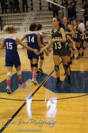 during the 2013 Central Prarie League Junior High Varsity Volleyball Tournament Championship Match with Central Plains winning the match in two games at Ness City High School in Ness City, Kansas on October 12, 2013. (Photo: Joey Bahr, www.joeybahr.com)