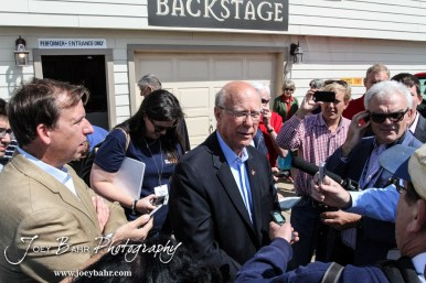 United States Senator Pat Roberts addresses the media following the WIBW 2014 Kansas State Fair Senate debate between United States Senator Pat Roberts and Greg Orman at Bretz-Young Injury Lawyers Arena on the Kansas State Fairgrounds in Hutchinson, Kansas on September 6, 2014. (Photo: Joey Bahr, www.joeybahr.com)