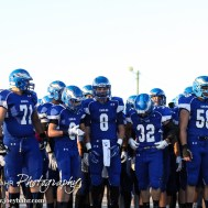 The Ness City Eagles prepare to take the field prior to the Spearville versus Ness City High School 8-Man Football Game with Spearville winning 50 to 38 at Ness City High School in Ness City, Kansas on October 3, 2014. (Photo: Joey Bahr, www.joeybahr.com)