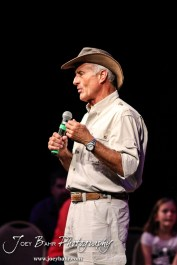 during an Evening with Jungle Jack Hanna an event for the Great Bend Zoo and Raptor Center at Fine Arts Auditorium on the Campus of Barton Community College in Great Bend, Kansas on October 16, 2014. (Photo: Joey Bahr, www.joeybahr.com)