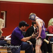During the Hoisington Cardinal Wrestling Classic at the Hoisington Activity Center in Hoisington, Kansas on January 30, 2015. (Photo: Joey Bahr, www.joeybahr.com)