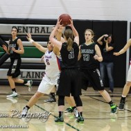 during the 2A Sub-State Championship Game with the Central Plains Lady Oilers and the Ellinwood Lady Eagles with Central Plains winning 72 to 54 at Central Plains High School in Claflin, Kansas on March 7, 2015. (Photo: Joey Bahr, www.joeybahr.com)