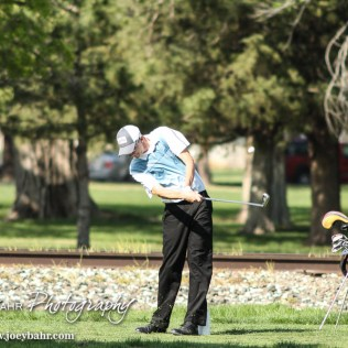 during the Ellinwood High School Boys Golf Invitational. at Grove Park Golf Course in Ellinwood, Kansas on April 23, 2015. (Photo: Joey Bahr, www.joeybahr.com)