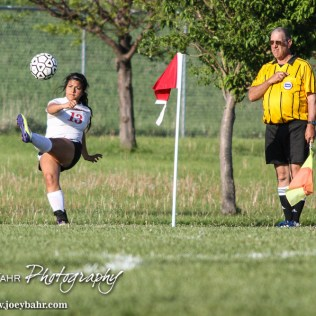 during the Dodge City Lady Demons versus Great Bend Lady Panthers Girls Soccer match with Dodge City winning 1 to 0