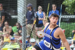 during day one of the KSHSAA State Track and Field Championship Meet