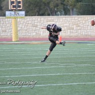 during the Great Bend Panther at Hays Indian football game with Great Bend winning 40 to 29