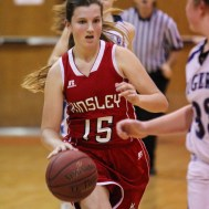 during the 2015 Keady Basketball Classic First Round game between the St. John Lady Tigers and the Kinsley Lady Coyotes with St. John winning 49 to 44
