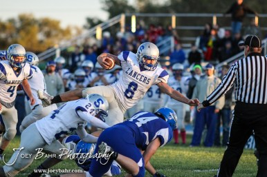 during the Spearville versus Ness City High School 8-Man Football Game with Spearville winning 50 to 38