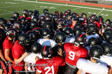 During the Great Bend High School Football Scrimmage at Memorial Stadium in Great Bend, Kansas on August 28, 2015. (Photo: Joey Bahr, www.joeybahr.com)