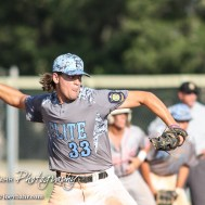 Garden City Elite Sloan Baker (#33) winds up to throw a pitch. The Great Bend Chiefs won the AAA Lower Zone 1 & 2 Tournament by defeating the Garden City Elite 10 to 4 at Great Bend Sports Complex in Great Bend, Kansas on July 18, 2016. (Photo: Joey Bahr, www.joeybahr.com)