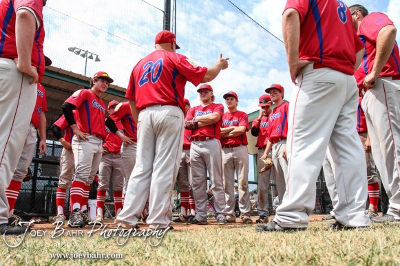 The Ottawa Arrows defeated Chanute 19 to 7 to in Game 1 of the American Legion Class AAA Baseball State Tournament Championship at the Great Bend Sports Complex in Great Bend, Kansas on July 30, 2016. (Photo: Joey Bahr, www.joeybahr.com)