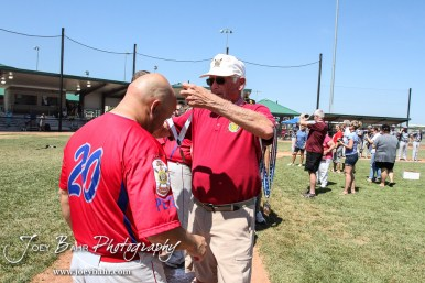 The Ottawa Arrows defeated Chanute 8 to 2 to win the American Legion Class AAA Baseball State Tournament Championship at the Great Bend Sports Complex in Great Bend, Kansas on July 31, 2016. (Photo: Joey Bahr, www.joeybahr.com)