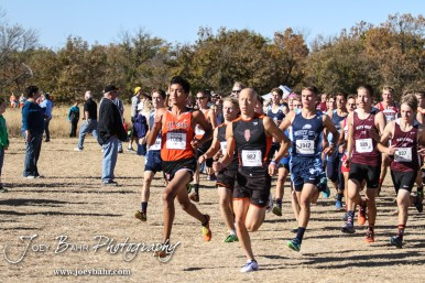 Competitors run in the Hays KSHSAA Class 4A Cross Country Regional at Sand Plum Creek Course in Victoria, Kansas on October 22, 2016. (Photo: Joey Bahr, www.joeybahr.com)