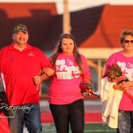The Hoisington Cardinals recognized their Fall Sport Senior athletes prior to the Lyons vs Hoisington Football game at Elton Brown Field in Hoisington, Kansas on October 27, 2016. (Photo: Joey Bahr, www.joeybahr.com)