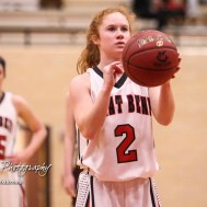 Great Bend Lady Panther #2 Keely Ireland shoots a free throw attempt. The Great Bend Lady Panthers defeated the Hays Lady Indians by a score of 54 to 41 at Great Bend High School in Great Bend, Kansas on January 10, 2017. (Photo: Joey Bahr, www.joeybahr.com)