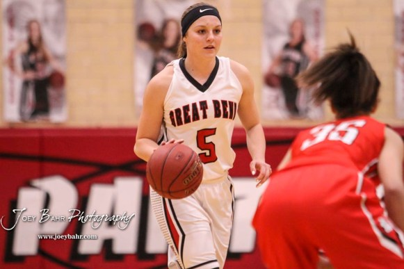 The McPherson Lady Bullpups defeated the Great Bend Lady Panthers with a score of 69 to 38 at the Great Bend High School Fieldhouse in Great Bend, Kansas on February 7, 2017. (Photo: Joey Bahr, www.joeybahr.com)