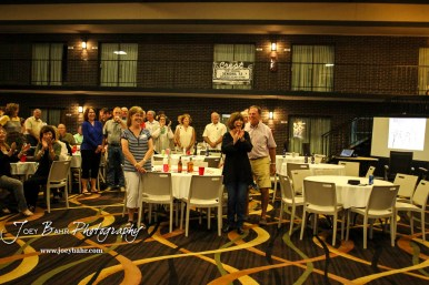 Members of the Great Bend High School Class of 1972 met for a reunion dinner at the courtyard of the Best Western Angus Inn in Great Bend, Kansas on September 16, 2017. (Photo: Joey Bahr, www.joeybahr.com)