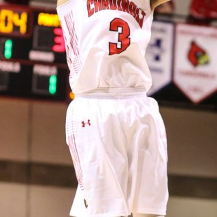Hoisington Cardinal #3 Xavier Robinson pulls up for a jump shot. The Hoisington Cardinals defeated the Pratt Greenbacks by a score of 47 to 41 in the Boys Championship game of the 2018 Hoisington Winter Jam at the Hoisington Activity Center in Hoisington, Kansas on January 20, 2018. (Photo: Joey Bahr, www.joeybahr.com)