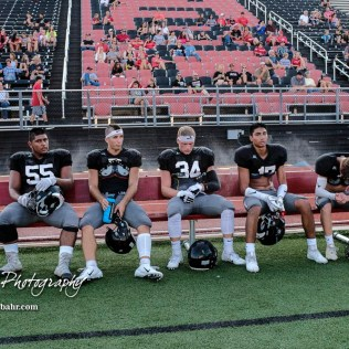 The Great Bend Panthers participated in the Red and Black Scrimmage at Memorial Stadium in Great Bend, Kansas on August 24, 2018. (Photo: Joey Bahr, www.joeybahr.com)
