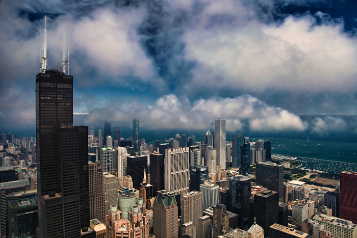Fall In Michigan Wallpaper Aerial Photo Of Downtown Chicago Near Willis Tower