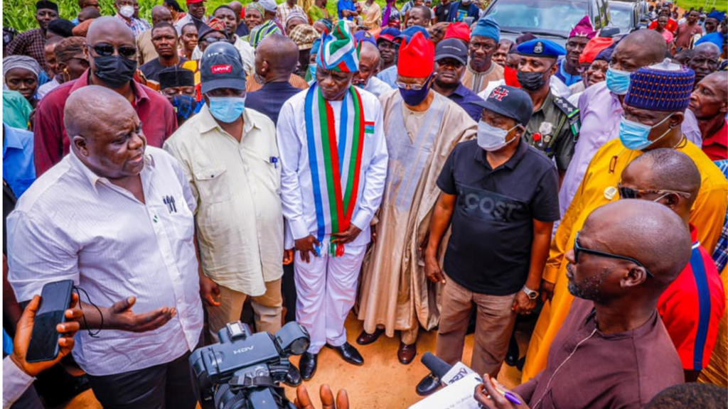 Governor Lalong Commends Peaceful Conduct Of Apc Lg Congresses In Plateau State; Inspects Bridge Constructions In Shendam