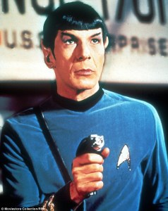 Spock with phaser