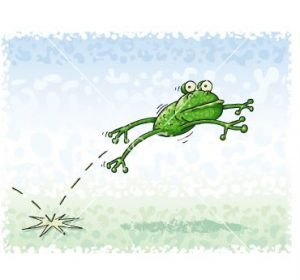 frog jumping snipped